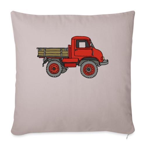 Roter Lastwagen, LKW, Laster - Sofakissen mit Füllung 44 x 44 cm