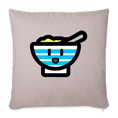 Cute Breakfast Bowl - Sofa pillow with filling 45cm x 45cm