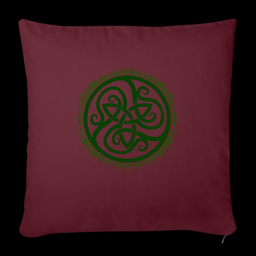 Green Celtic Triknot - Sofa pillow with filling 45cm x 45cm
