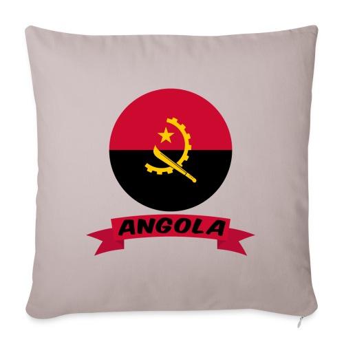 flag of Angola t shirt design ribbon banner - Cuscino da divano 44 x 44 cm con riempimento