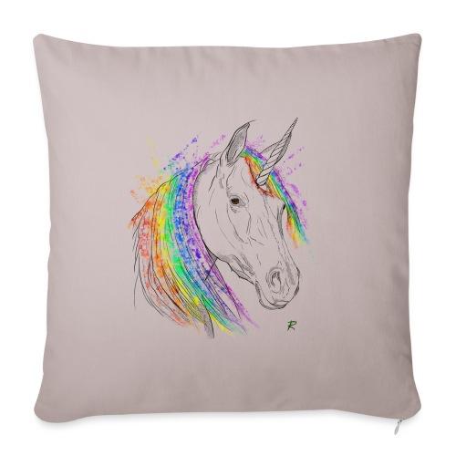 Unicorno - Cuscino da divano 44 x 44 cm con riempimento