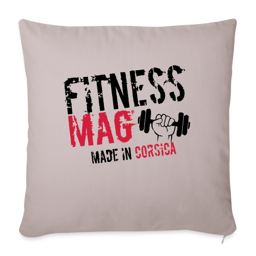 Fitness Mag made in corsica 100% Polyester - Coussin et housse de 45 x 45 cm