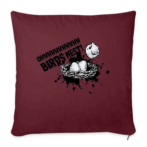 Birds Nest With Bird - Sofa pillow with filling 45cm x 45cm
