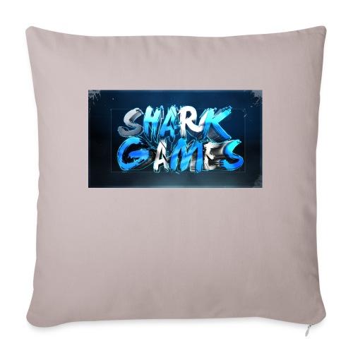 SharkGames - Cuscino da divano 44 x 44 cm con riempimento