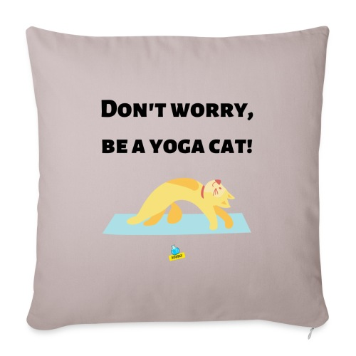 Yoga cat! - Cuscino da divano 44 x 44 cm con riempimento