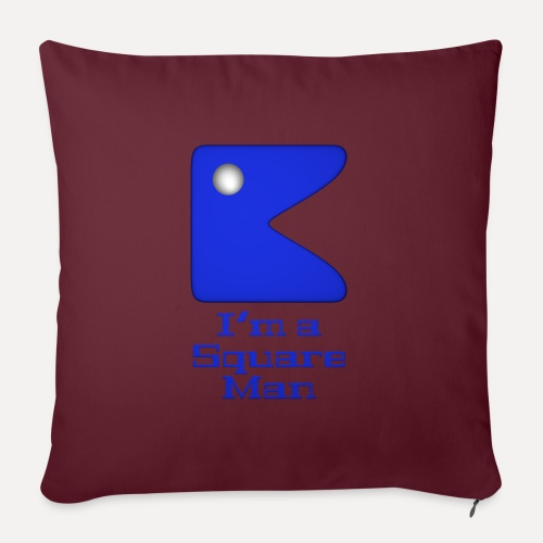 Square man blue - Sofa pillow with filling 45cm x 45cm