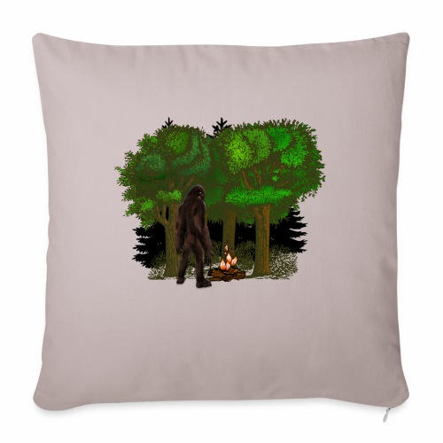 Bigfoot Campfire Forest - Sofa pillow with filling 45cm x 45cm