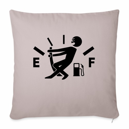 Empty tank - no fuel - fuel gauge - Sofa pillow with filling 45cm x 45cm