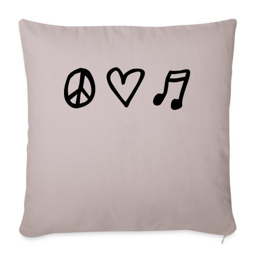Peace, love & music - Sofakissen mit Füllung 44 x 44 cm