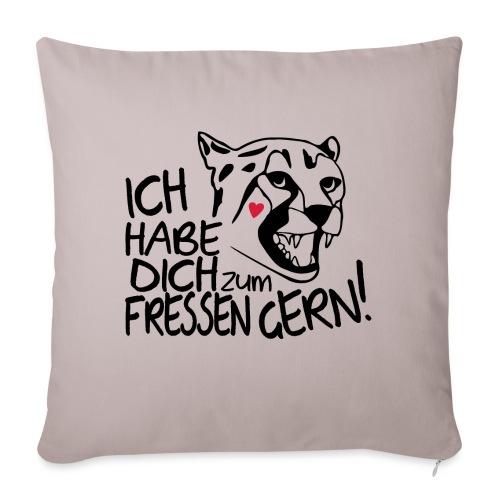 Zum Fressen Gern Haben Herz Liebe Partner Spruch - Sofakissen mit Füllung 44 x 44 cm