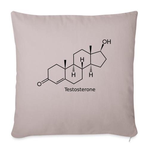 Testosterone - Bodybuilding, Crossfit, Fitness - Sofakissen mit Füllung 44 x 44 cm