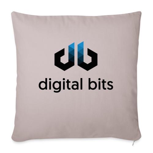 digitalbits Logo mit Schriftzug - Sofakissen mit Füllung 44 x 44 cm