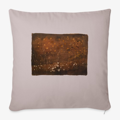 Champ marron - Sofa pillow with filling 45cm x 45cm