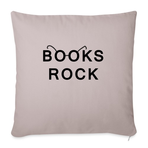 Books Rock Black - Sofa pillow with filling 45cm x 45cm