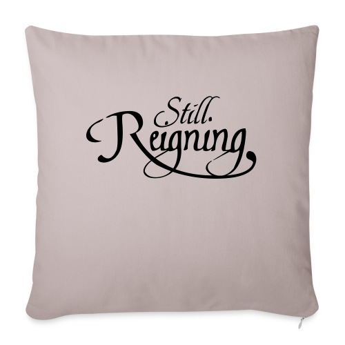 still reigning black - Sofa pillow with filling 45cm x 45cm