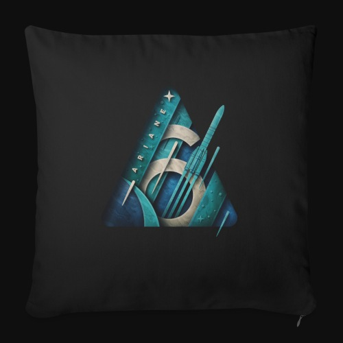 Ariane 6 - Out of the box By Fugstrator - Sofa pillow with filling 45cm x 45cm