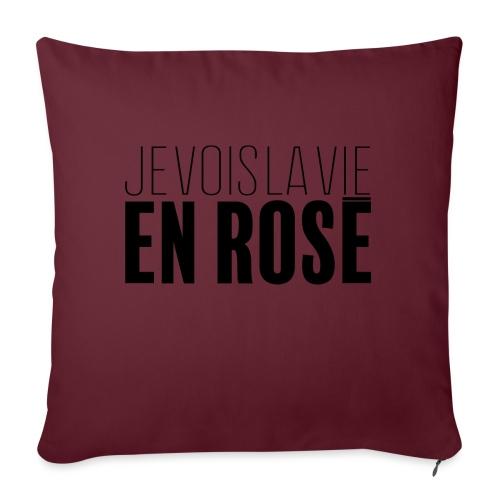 La vie en rosé - Coussin et housse de 45 x 45 cm
