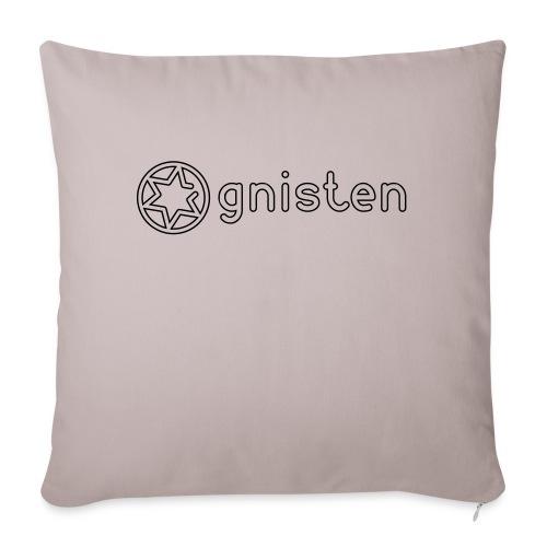 Gnisten Ry (sort tryk - horisontal) - Sofapude med fyld 44 x 44 cm