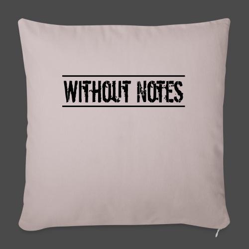 Without Notes Schriftzug Nummer 1 - Sofakissen mit Füllung 44 x 44 cm