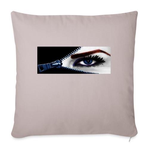 Almohada mirada mujer y cremallera - Cojín de sofá con relleno 44 x 44 cm