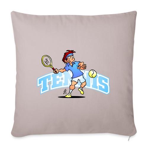 Tennis IV txt fc - Sofa pillow with filling 45cm x 45cm