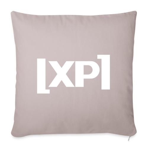 Klammelogo XP (hvid) - Sofapude med fyld 44 x 44 cm