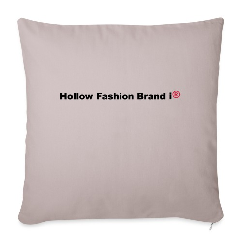 spreadshirt hollow fashion brand ir - Sofa pillow with filling 45cm x 45cm