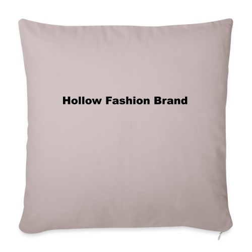 spreadshirt hollow fashion brand - Sofa pillow with filling 45cm x 45cm