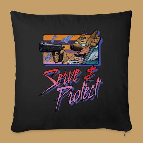 Gun Dog - Serve and protect - napis - Poduszka na kanapę z wkładem 44 x 44 cm