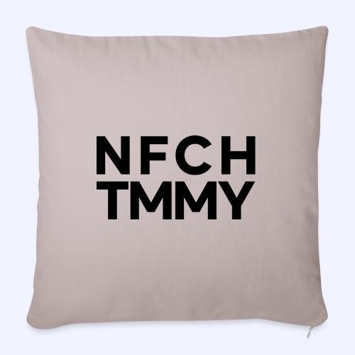Einfach Tommy / NFCHTMMY / Black Font - Sofakissen mit Füllung 44 x 44 cm