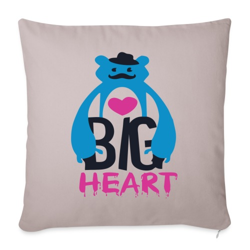 Big Heart Monster Hugs - Sofa pillow with filling 45cm x 45cm