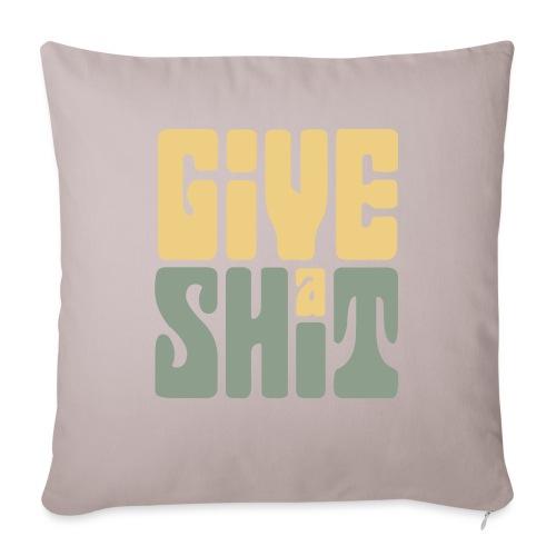 Give a shit - Soffkudde med stoppning 44 x 44 cm