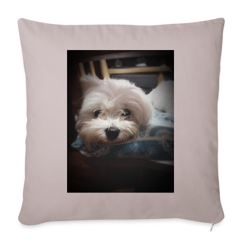 Pure White Pup - Sofa pillow with filling 45cm x 45cm