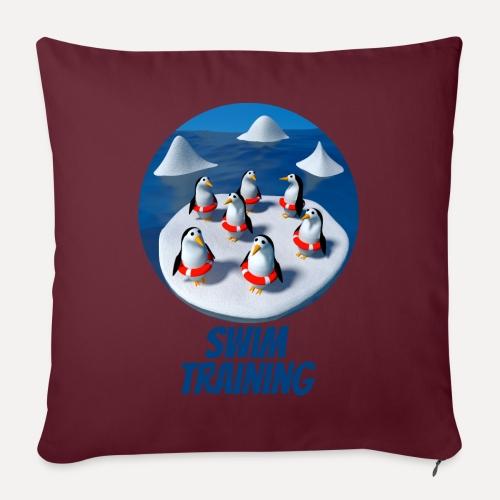 Pinguine beim Schwimmunterricht - Sofa pillow with filling 45cm x 45cm