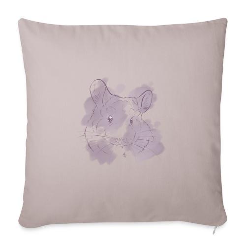 Violet splash chinchilla 2 - Sohvatyynyt täytteellä 44 x 44 cm