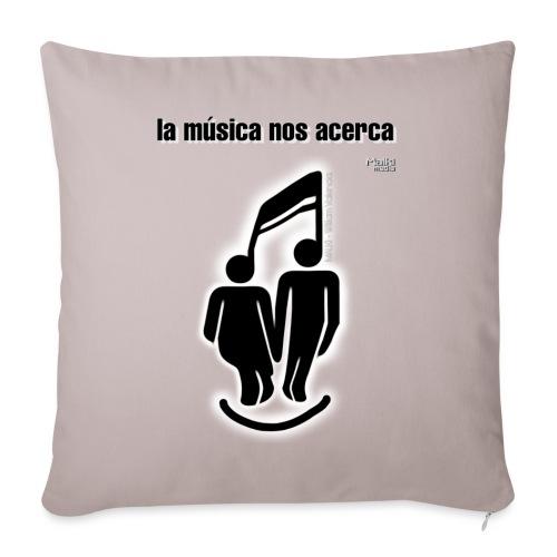 La música nos acerca I - Cojín de sofá con relleno 44 x 44 cm