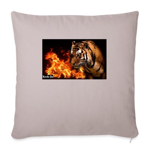 Tiger Flame - Sofapude med fyld 44 x 44 cm