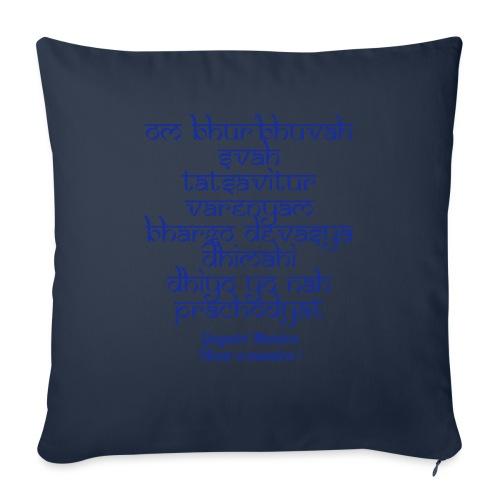 OM Bhur Bhuva Svaha - Cuscino da divano 44 x 44 cm con riempimento