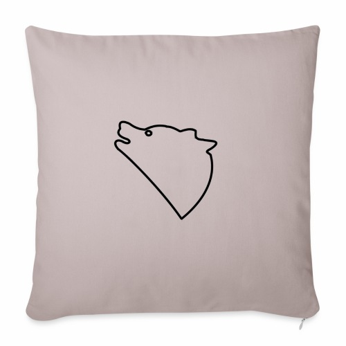 Wolf baul logo - Bankkussen met vulling 44 x 44 cm