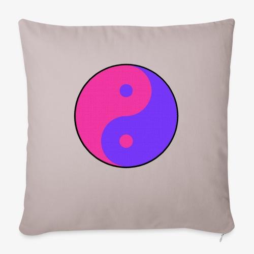 Yin Yang PinkBlue - Cojín de sofá con relleno 44 x 44 cm