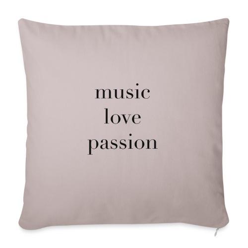 music love passion - schwarz - Sofakissen mit Füllung 44 x 44 cm