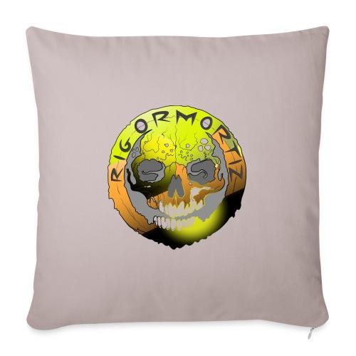 Rigormortiz Metallic Yellow Orange Design - Sofa pillow with filling 45cm x 45cm