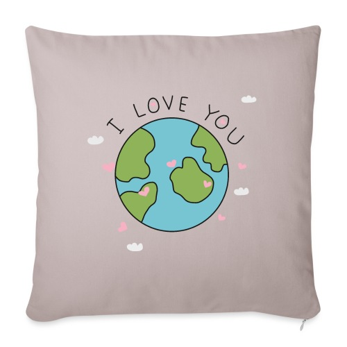 iloveyou - Cuscino da divano 44 x 44 cm con riempimento