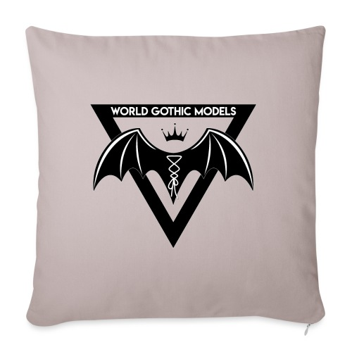 World Gothic Models Official Logo Design - Sofa pillow with filling 45cm x 45cm