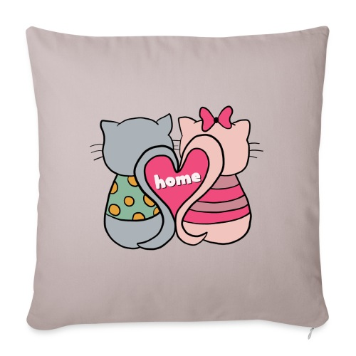 Cats - Sofa pillow with filling 45cm x 45cm