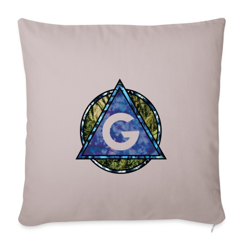 Grime Apparel Geo Print. - Sofa pillow with filling 45cm x 45cm