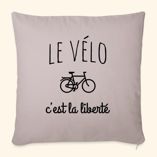 Le vélo c'est la liberté - Coussin et housse de 45 x 45 cm