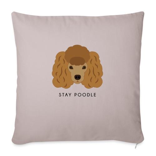Poodle Brown - Cuscino da divano 44 x 44 cm con riempimento