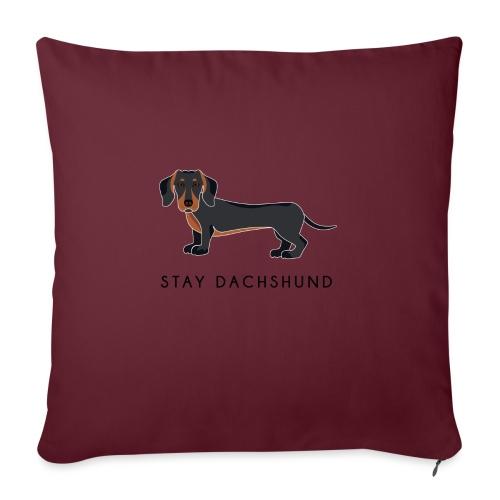 Dachshund Black - Cuscino da divano 44 x 44 cm con riempimento