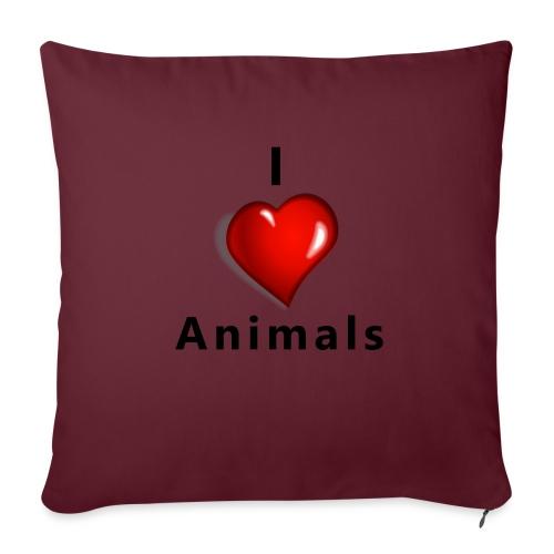 i love animals - Bankkussen met vulling 44 x 44 cm